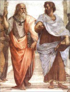 Платон та Аристотель Частина фрески Рафаеля Санті «Афінська школа» 1509