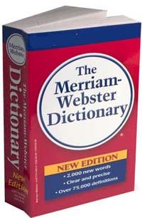 Фото словаря Вебстера